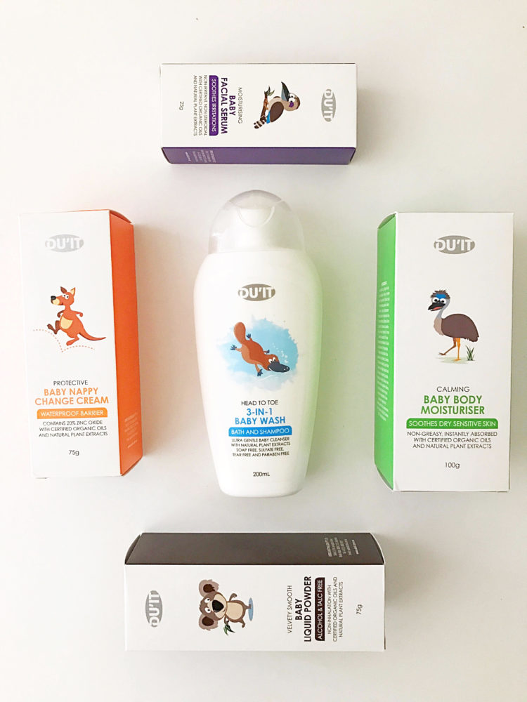 Duit Range of Baby Skincare Products
