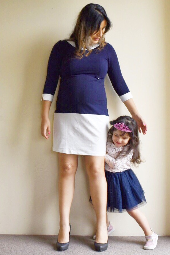 Glama Mama Maternity Monaco Navy Dress